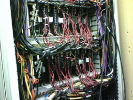Wired Rosemount Process Control Panel
